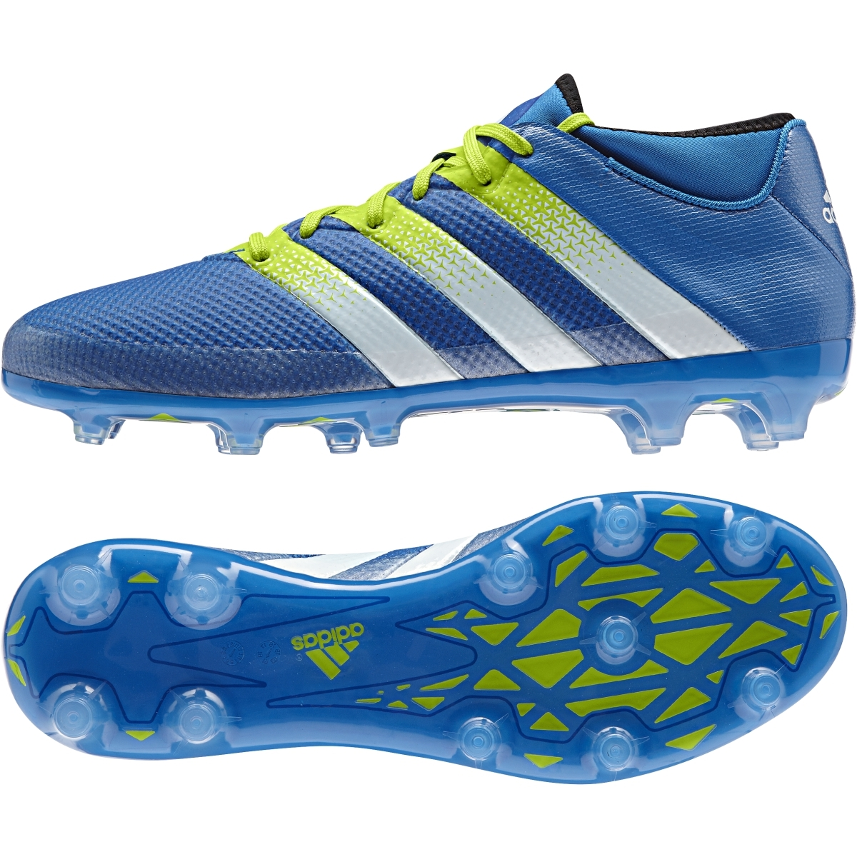 info for ca0a2 8f779 Adidas ACE 16.2 Primemesh FG Soccer Cleats (Shock Blue/Semi Solar Slime)