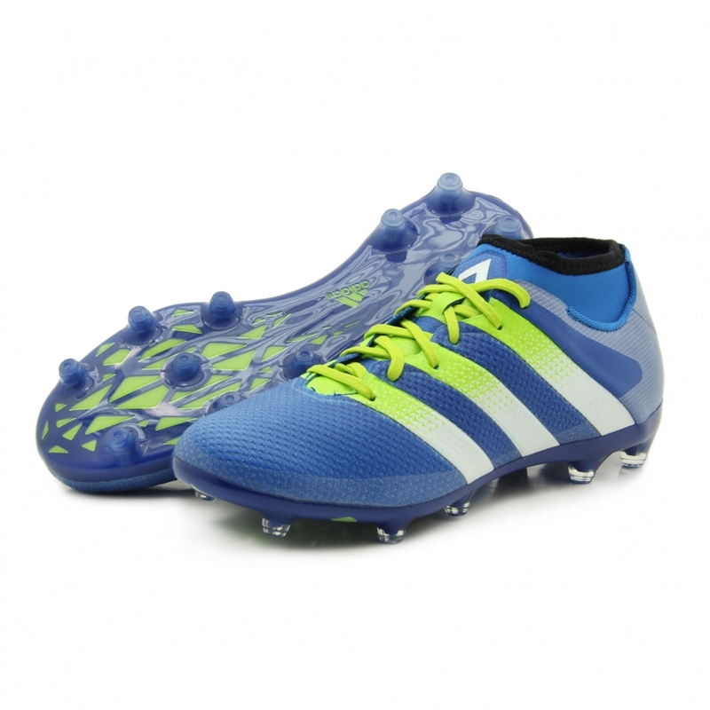 info for ad763 b2c31 Adidas ACE 16.2 Primemesh FG Soccer Cleats (Shock Blue/Semi Solar Slime)