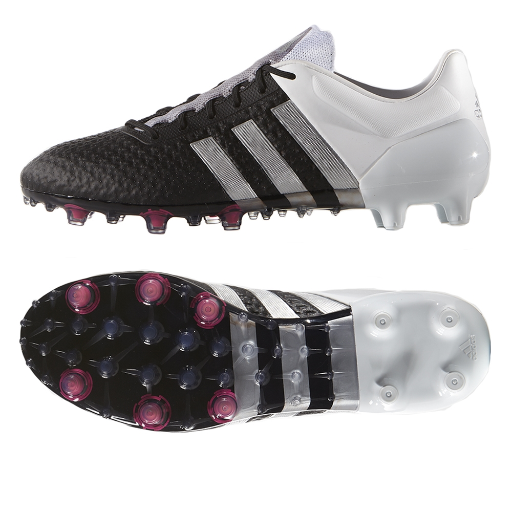ec5b0cd09 ... usa adidas ace 15 primeknit fg soccer cleats black metallic silver white  faa0a 48b90