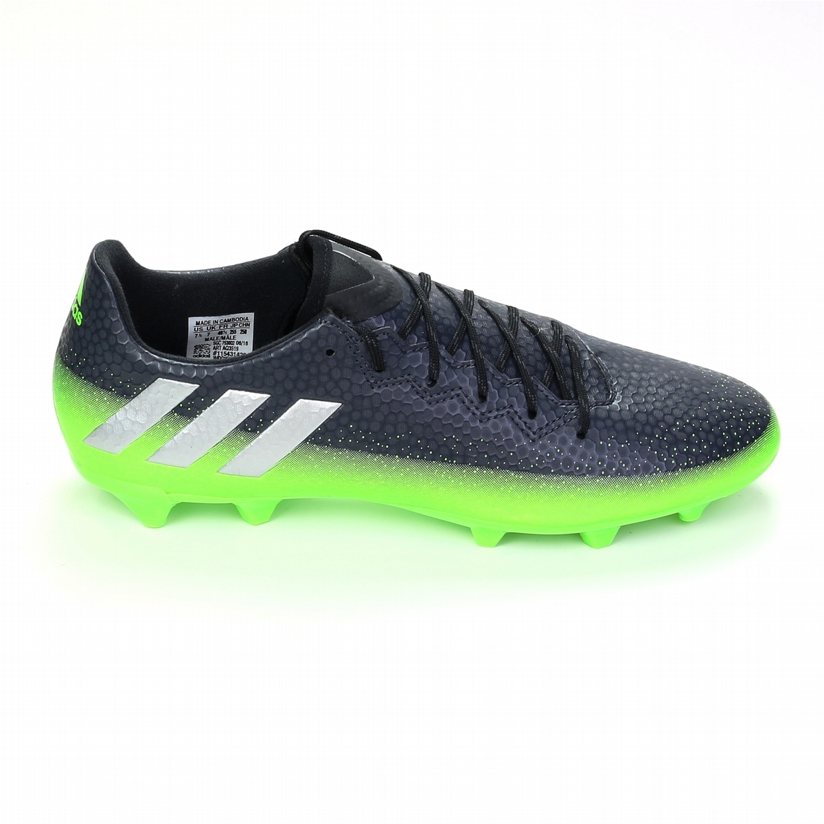 c9d477c4240 Adidas Messi 16.3 FG Soccer Cleats (Dark Grey Silver Metallic Slime ...