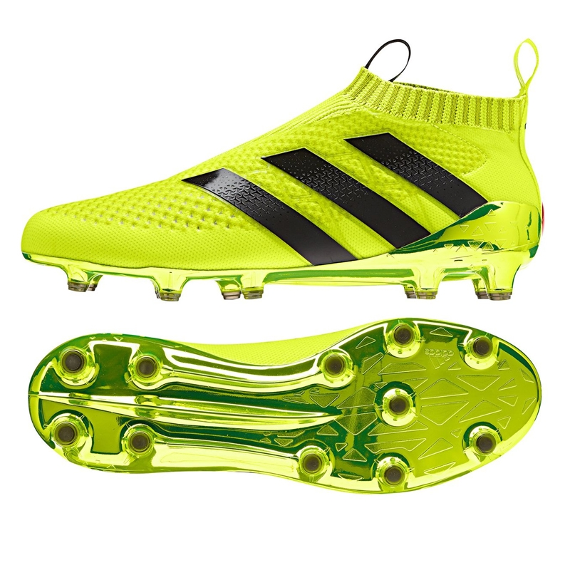 brand new f4e01 da341 Adidas ACE 16+ PURECONTROL FG Soccer Cleats (Solar Yellow/Core  Black/Metallic Silver)