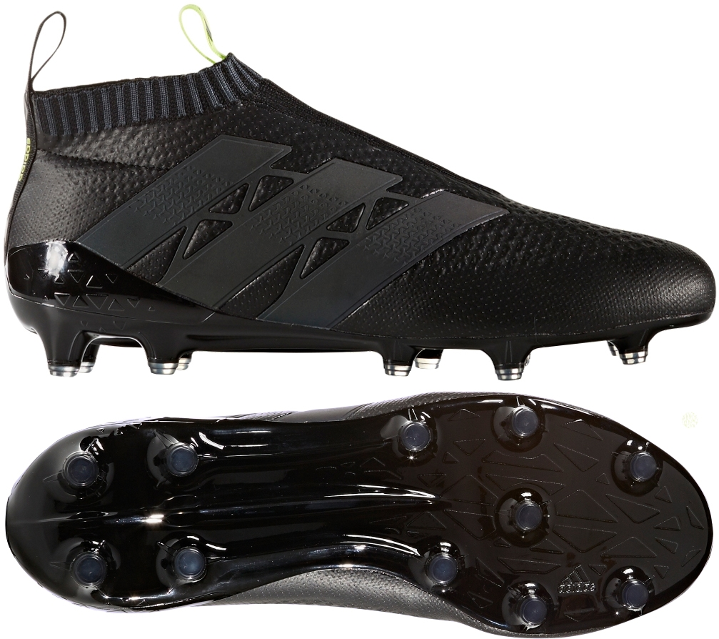 Adidas ACE 16+ PURECONTROL FG Soccer Cleats (Black Solar Yellow ... 4f55eb147