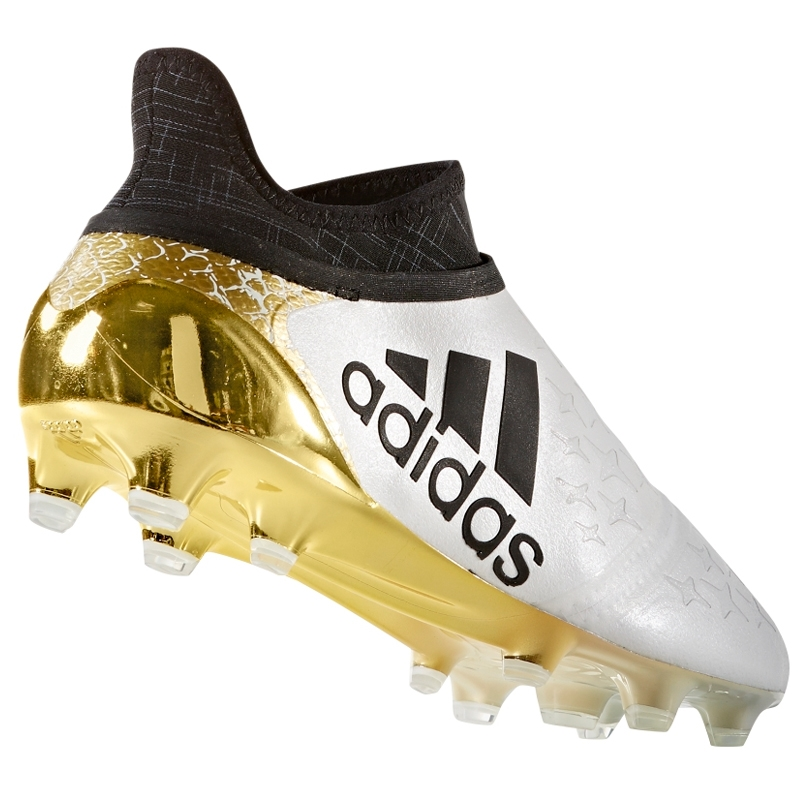 check out bbab2 d1b39 Adidas X 16+ Purechaos FG Soccer Cleats (White Black Gold ...