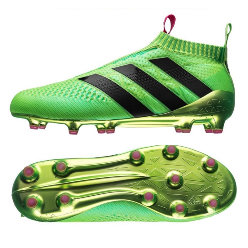 Adidas ACE 16+ PURECONTROL FG/AG Soccer Cleats (Solar Green/Shock Pink/Black)