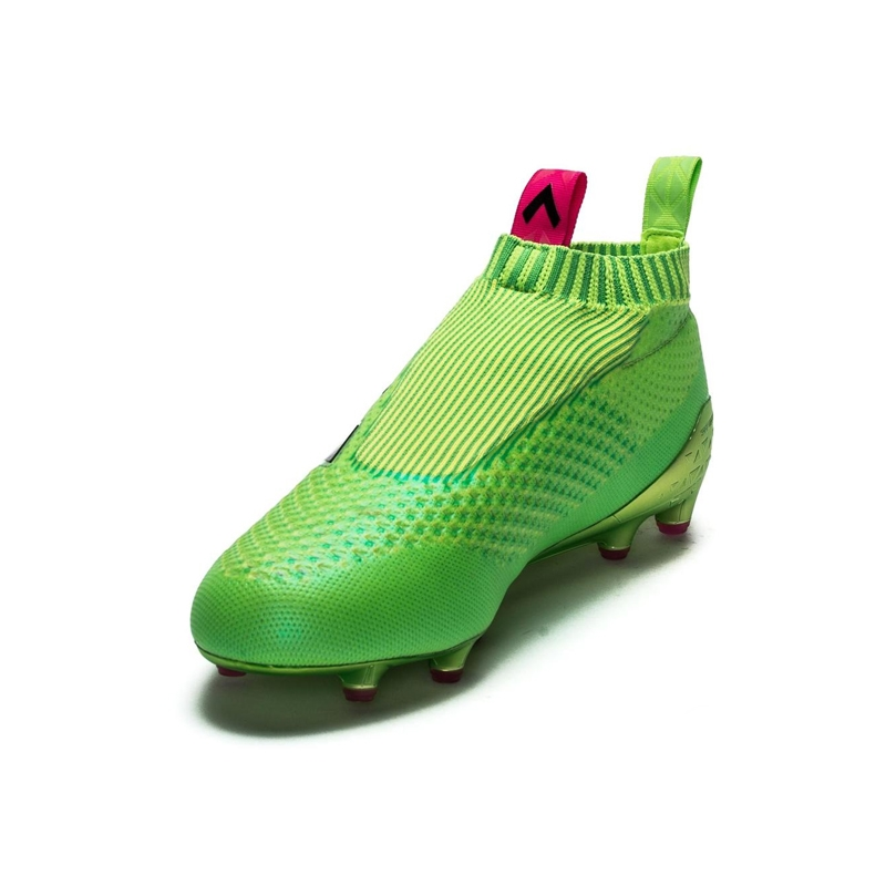 7ae890ad28b94 ACE 16+ PURECONTROL FG AG Soccer Cleats (Solar Green Shock Pink ...