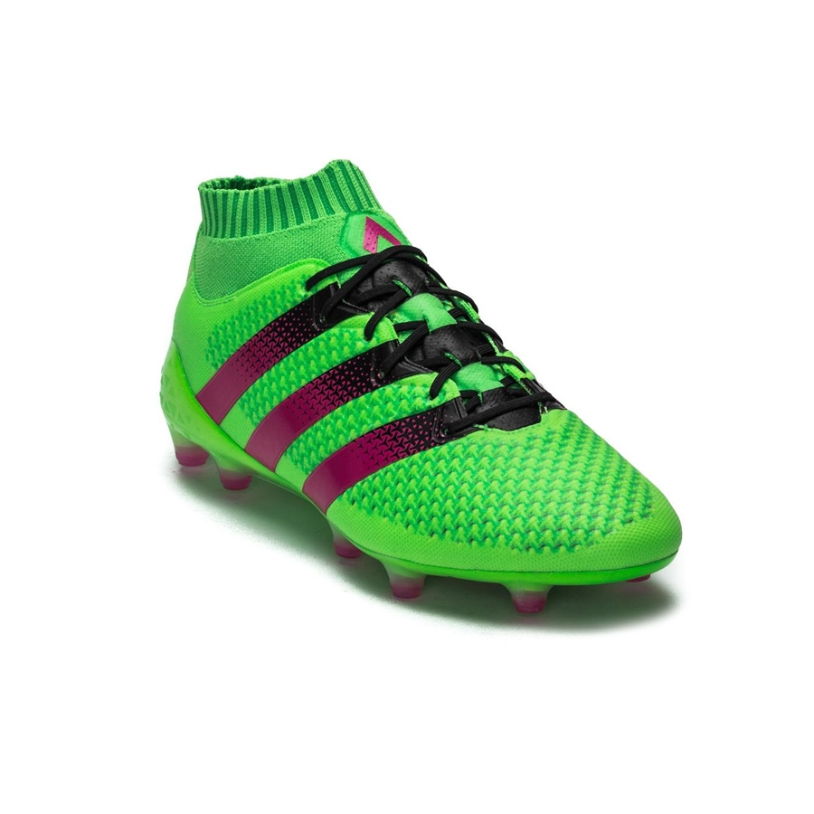 check out 63878 1613e Adidas ACE 16.1 Primeknit FG Soccer Cleats (Solar Green/Shock Pink/Black)