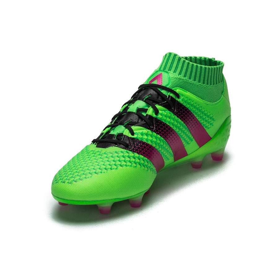 size 40 d89be 3ce78 Adidas ACE 16.1 Primeknit FG Soccer Cleats (Solar Green Shock Pink Black)