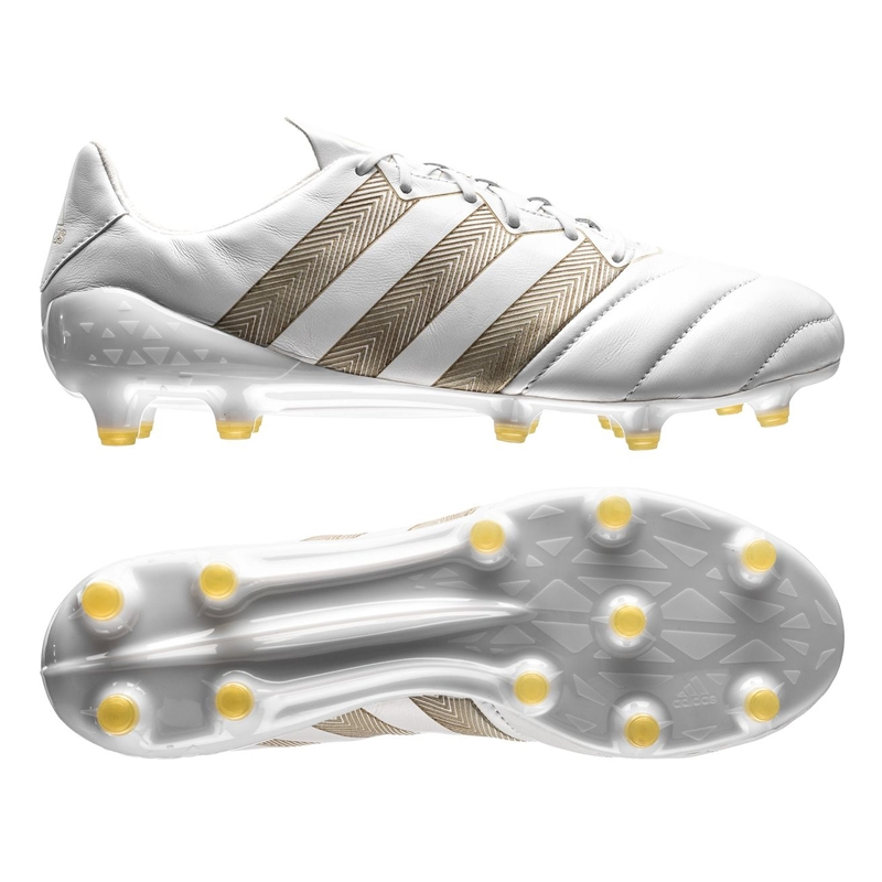 Adidas ACE 16.1 FG Leather Soccer Cleats (White Etch Pack ...
