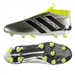 Adidas ACE 16+ PURECONTROL FG Soccer Cleats (Silver Metallic/Core Black/Solar Yellow) | Adidas Soccer Cleats |FREE SHIPPING| Adidas AQ6356 | SoccerCorner.com