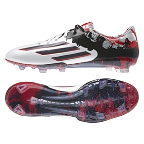Adidas Messi Pibe de Barrio 10.1 FG Soccer Cleats (White/Granite/Scarlet)