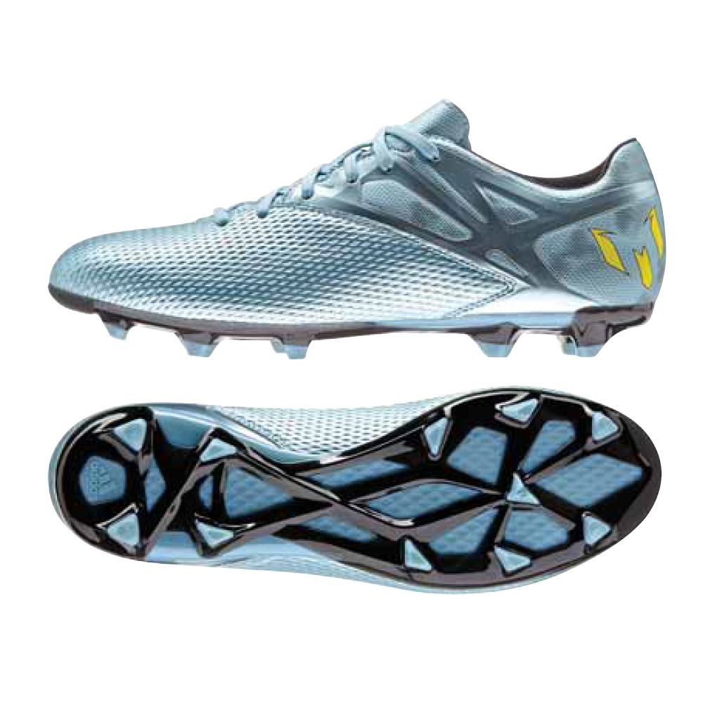 adidas messi 15.1 ice metallic silver / yellow / black