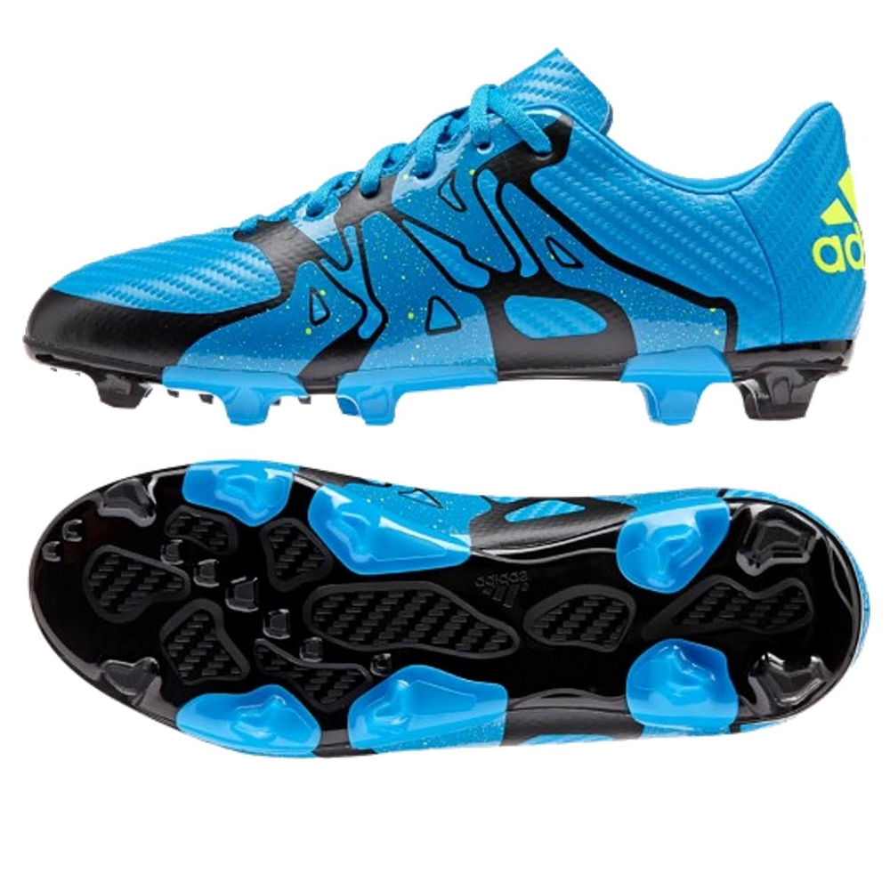 Adidas X 15.3 FG/AG Soccer Cleats (Solar Blue/Solar Yellow/Black