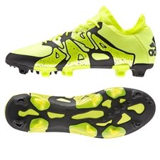 Adidas X 15.1 FG/AG Soccer Cleats (Solar Yellow/Black/Frozen Yellow)
