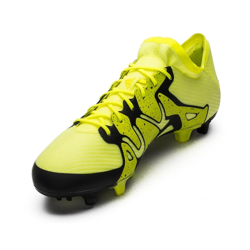 Adidas X 15.1 FG/AG Soccer Cleats (Solar Yellow/Black/Frozen ...