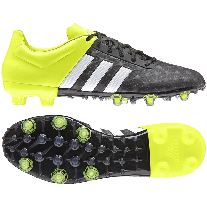 bfd900317b8 Adidas ACE 15.2 FG AG Soccer Cleats (Black White Solar Yellow ...