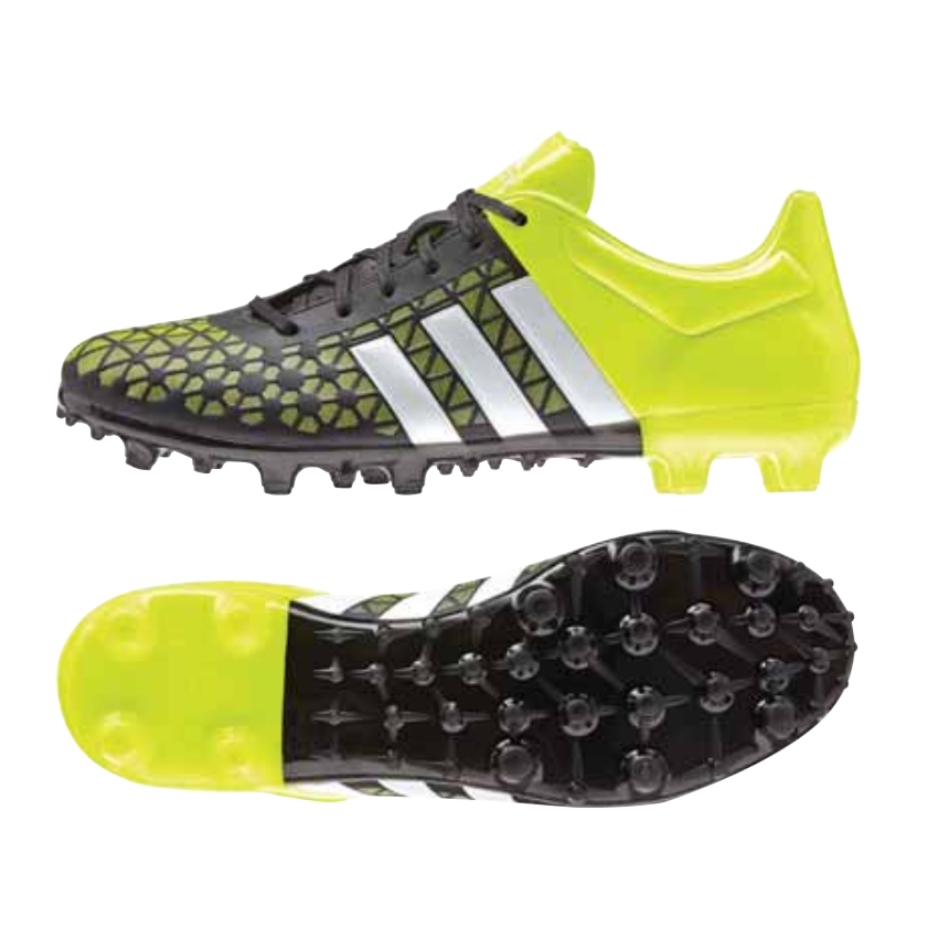 Adidas ACE 153 FGAG Soccer Cleats BlackWhiteSolar Yellow