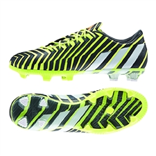Adidas Predator Instinct FG Soccer Cleats (Light Flash Yellow/White/Dark Grey)