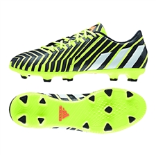 Adidas Predator Absolado Instinct FG Soccer Cleats (Light Flash Yellow/White/Dark Grey)