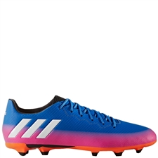 Adidas Messi 16.3 FG Soccer Cleats (Blue/White/Solar Orange)