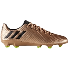 Adidas Messi 16.1 FG Soccer Cleats (Copper Metallic/Core Black/Solar Green)