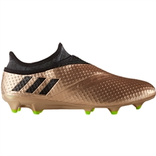 Adidas Messi 16+ PureAgility FG Soccer Cleats (Copper Metallic/Core Black/Solar Green)