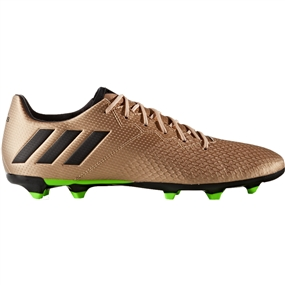 Adidas Messi 16.3 FG Soccer Cleats (Copper Metallic/Black/Solar Green)