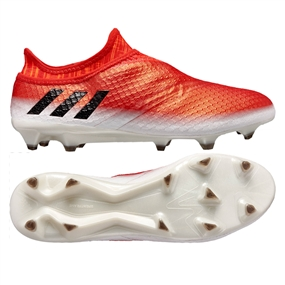 Adidas Messi 16+ PureAgility FG Soccer Cleats (White/Black/Red)