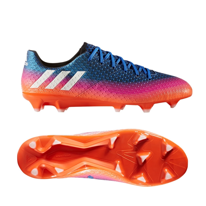 32b3672f1ba Adidas Messi 16.1 FG Soccer Cleats (Blue White Solar Orange)