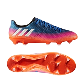 Adidas Messi 16.1 FG Soccer Cleats (Blue/White/Solar Orange)