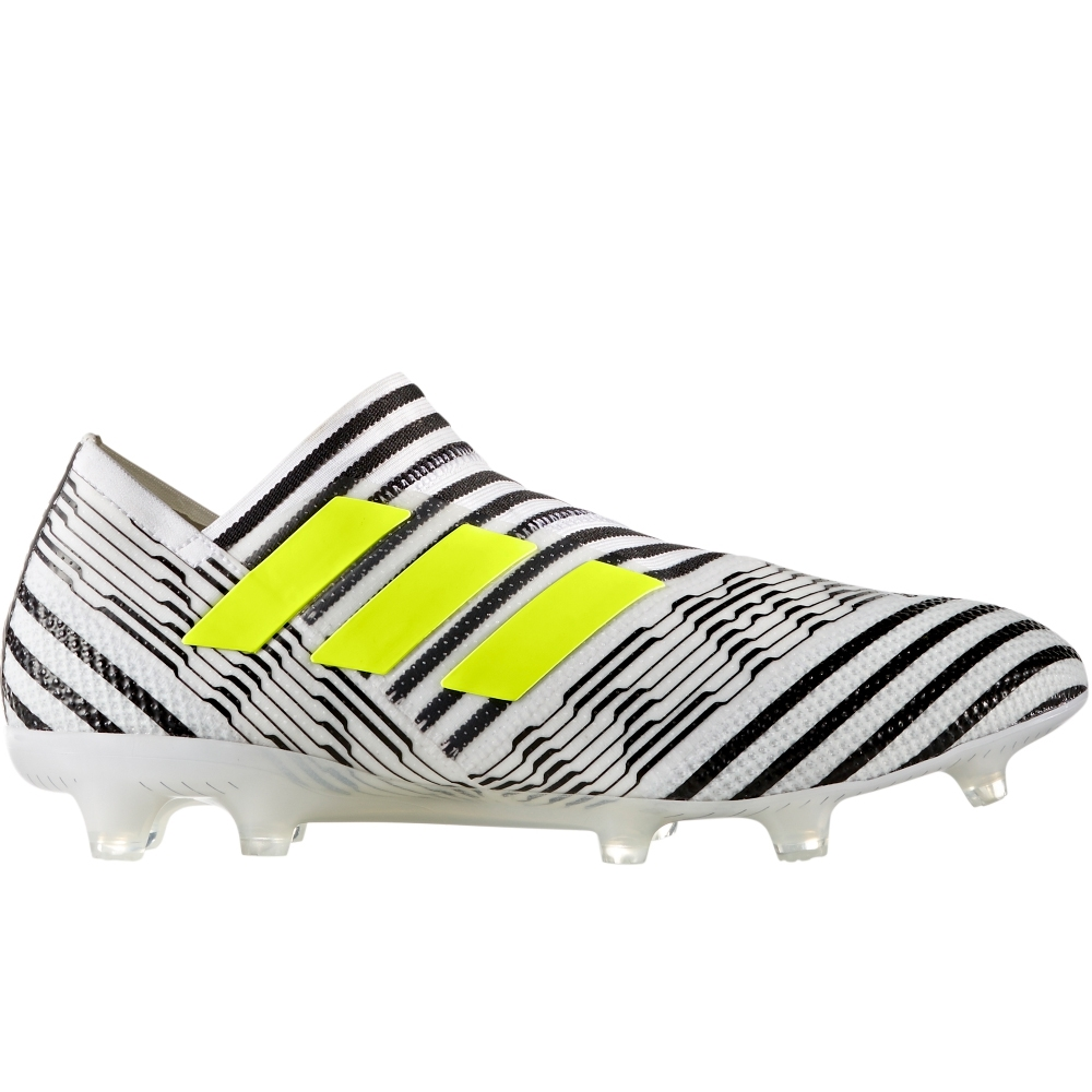 check out 62115 a8311 Adidas Nemeziz 17+ 360Agility FG Soccer Cleats (White Solar Yellow Core  Black
