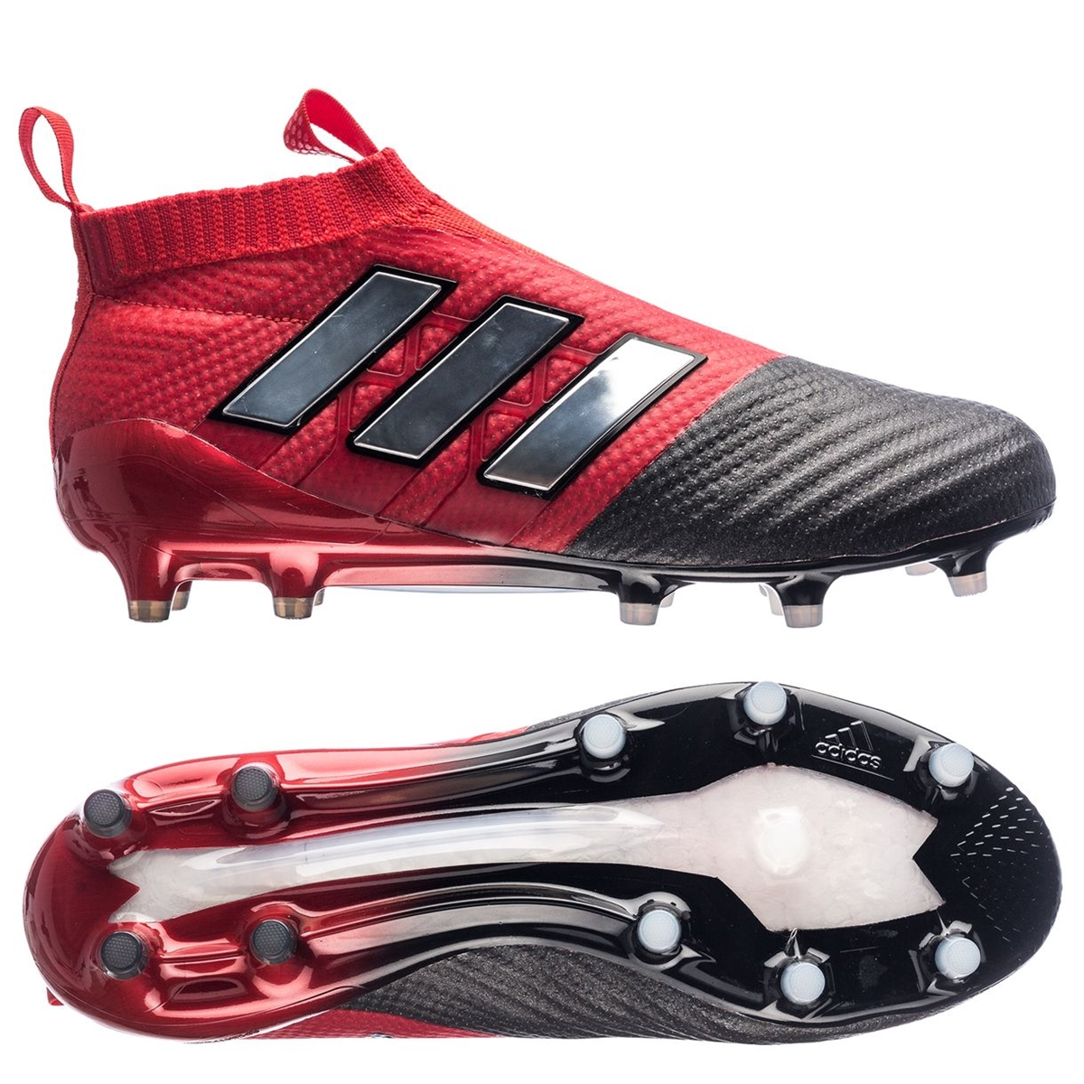 sports shoes 49e2f 00a7e Adidas ACE 17+ PURECONTROL FG Soccer Cleats (Red White Black)