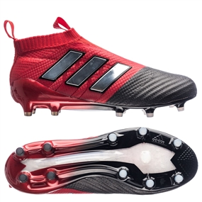 Adidas ACE 17+ PURECONTROL FG Soccer Cleats (Red/White/Black) | BB4314
