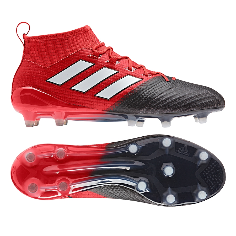 234eb4c3d059 Adidas ACE 17.1 Primeknit FG Soccer Cleats (Red/White/Black) | Adidas