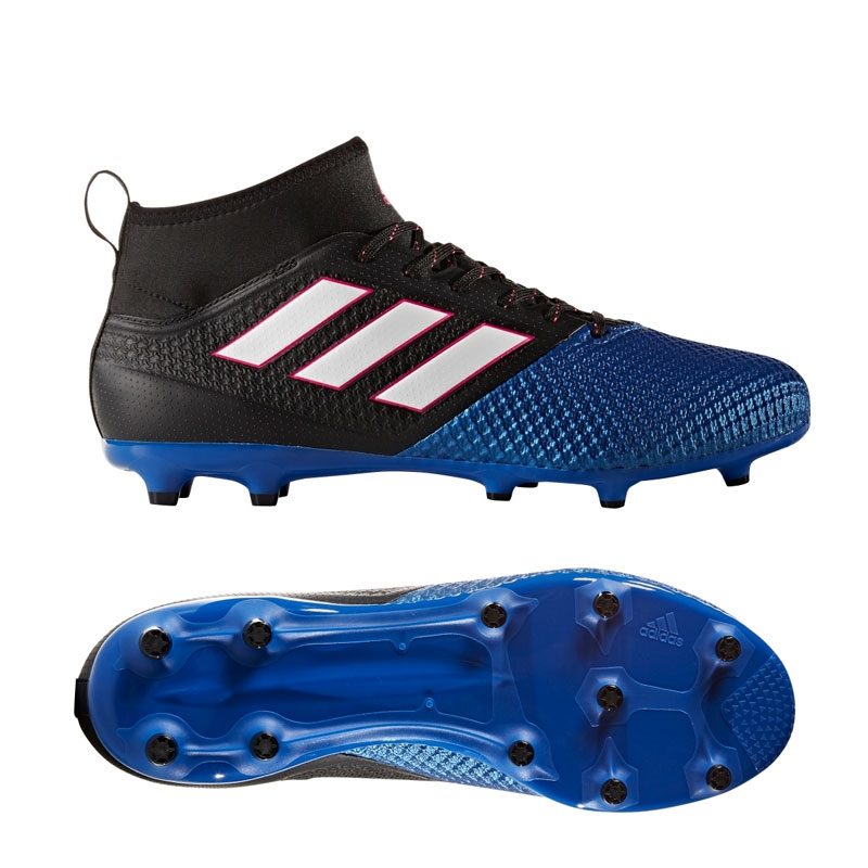 02f98cadbec3 Adidas ACE 17.2 Primemesh FG Soccer Cleats (Black White Blue ...
