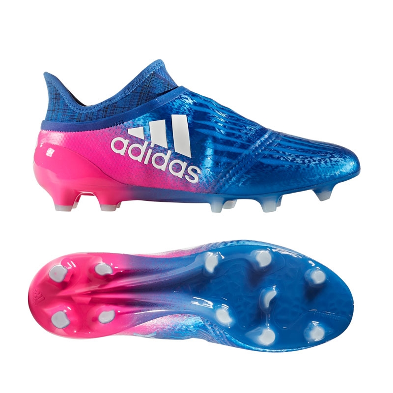 Adidas X 16 Purechaos FG Soccer Cleats (Blue/White/Shock Pink)