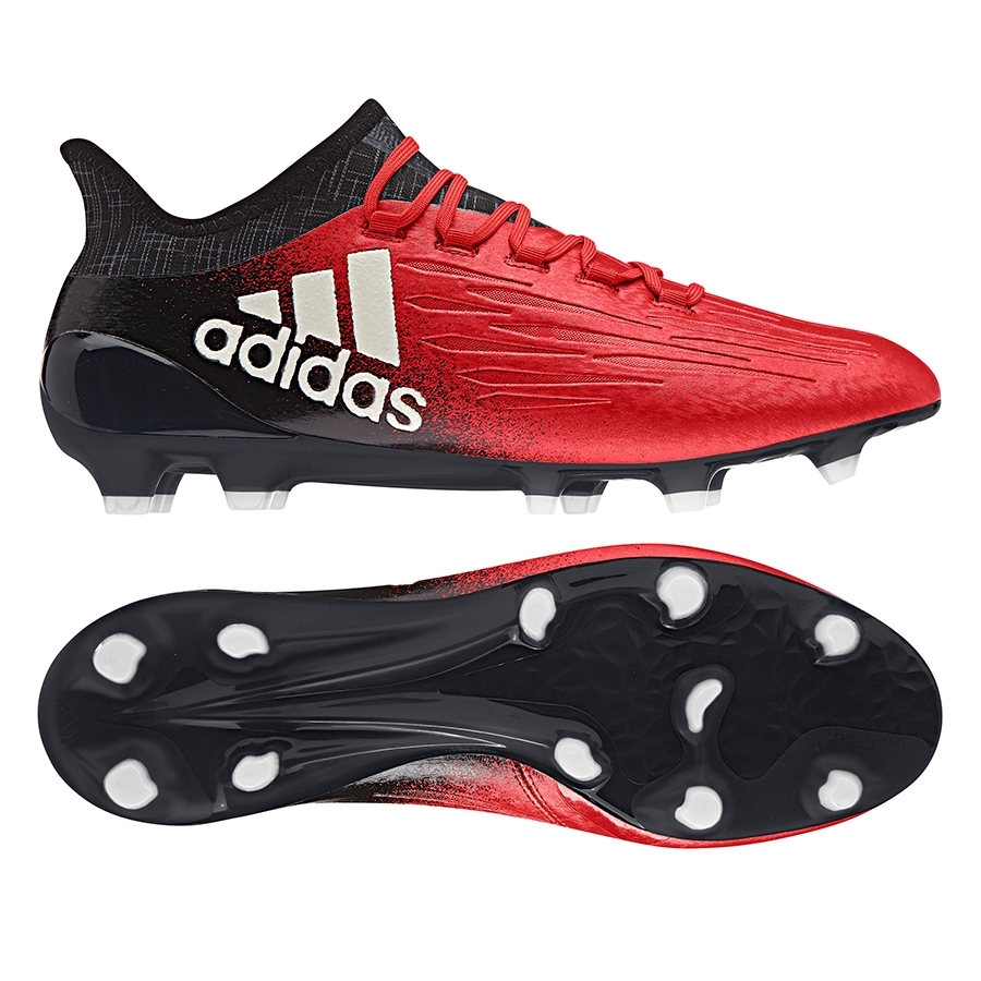 aea73b6c1d7 Adidas X 16.1 FG Soccer Cleats (Red White Black)