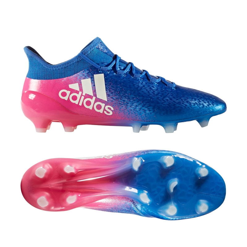 73992b944b6 Adidas X 16.1 FG Soccer Cleats (Blue White Shock Pink)