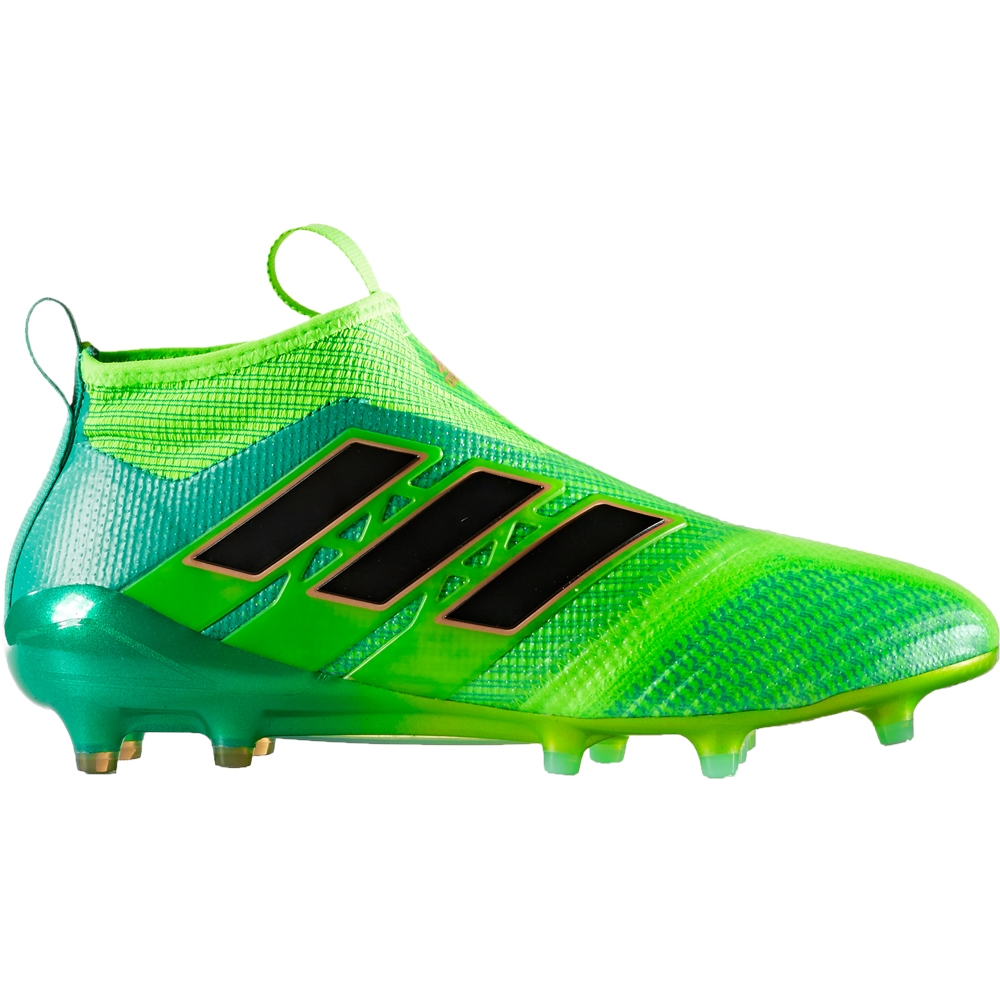 Mens adidas ACE 17+ Purecontrol FG 2017 Soccer Cleats Green