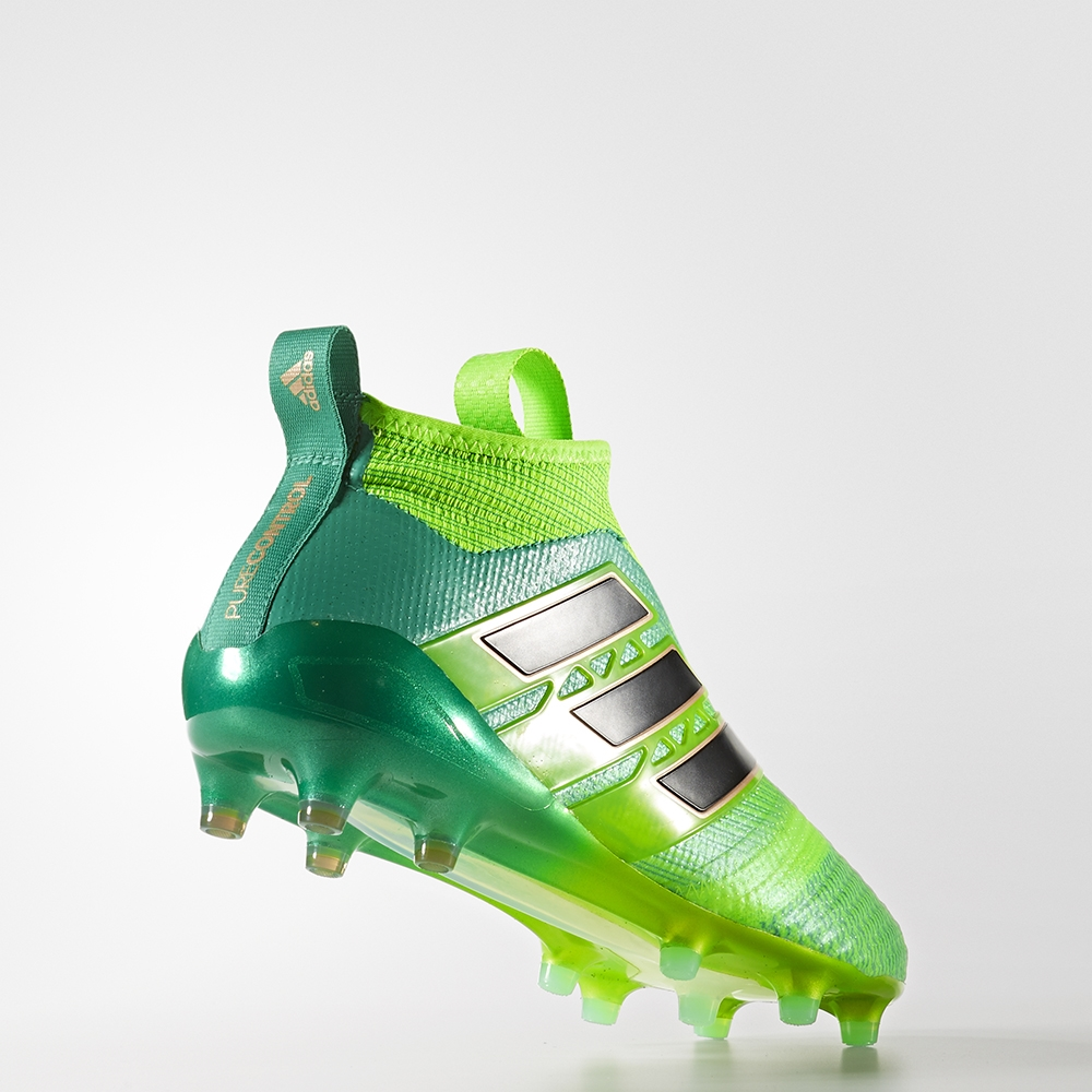 super popular 7895e 15aaf Adidas ACE 17+ Purecontrol FG Soccer Cleats (Solar GreenCore Black)