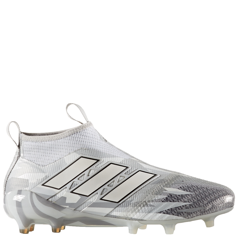 Adidas ACE 17+ Purecontrol FG Soccer Cleats (Clear Grey/White/Core Black)