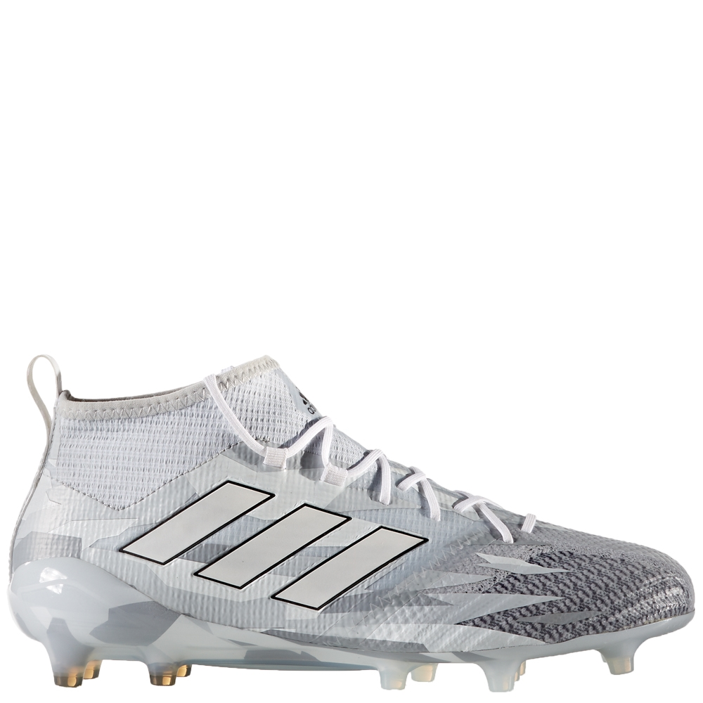 premium selection d9cae 7b5ac Adidas ACE 17.1 Primeknit FG Soccer Cleats (Clear Grey/White/Core Black)