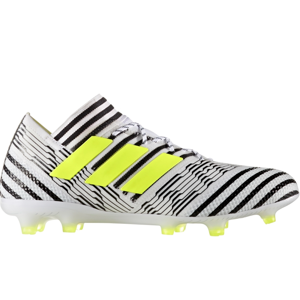 7ce8fa62842b Adidas Nemeziz 17.1 FG Soccer Cleats (White/Solar Yellow/Core Black ...