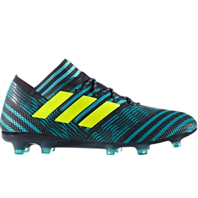 Adidas Nemeziz 17.1 FG Soccer Cleats (Legend Ink/Solar Yellow/Energy Blue) | BB6078