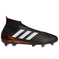 Adidas Predator 18+ FG Soccer Cleats (Core Black/White/Solar Red)