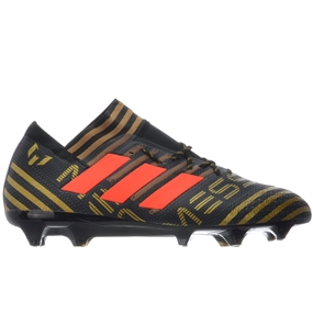 Adidas Nemeziz Messi 17.1 FG Soccer Cleats (Core Black/Solar Red/Tactile Gold Metallic) | BB6351