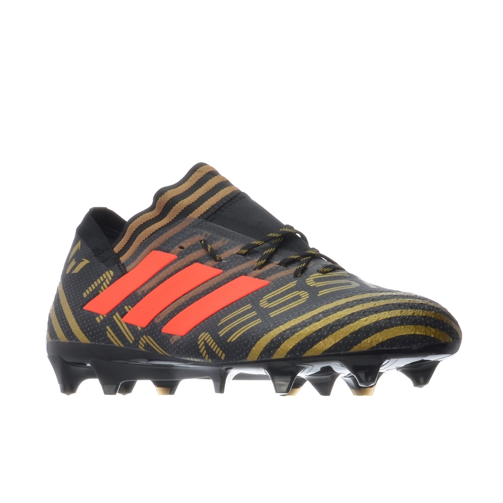 039033b0fcba Adidas Nemeziz Messi 17.1 FG Soccer Cleats (Core Black Solar Red Tactile  Gold Metallic)