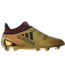 Adidas X 17+ PureSpeed FG Soccer Cleats (Tactile Gold Metallic/Core Black/Solar Red)