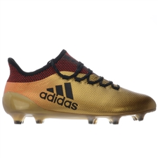 Adidas X 17.1 FG Soccer Cleats (Tactile Gold Metallic/Core Black/Solar Red)