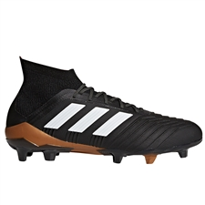 Adidas Predator 18.1 FG Soccer Cleats (Core Black/White/Solar Red)
