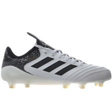 Adidas Copa 18.1 FG Soccer Cleats (White/Core Black/Tactile Gold Metallic)